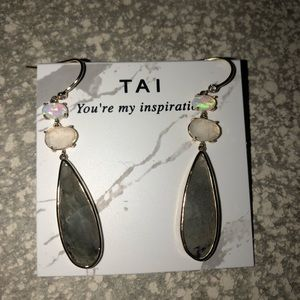 Tai Local Eclectic opal mixed gem dangle earrings